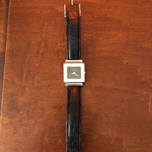 Gucci Watch with Black Leather Band